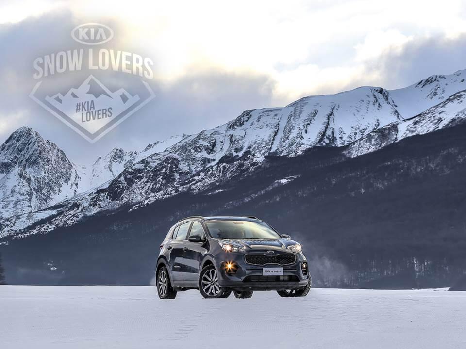 Kia Sportage en la nieve
