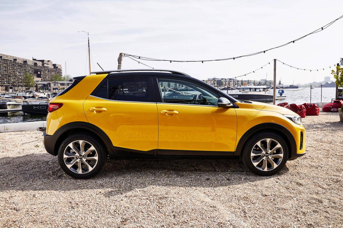 Kia Stonic - Amarilla - Vista lateral