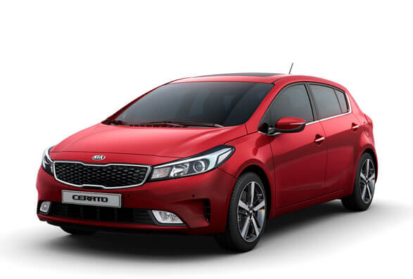 Kia Cerato Hatchback - Firely Red